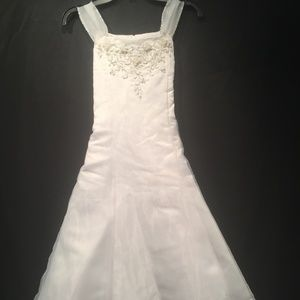 US Angels Bridal Party Flower Girl Dress Size 10